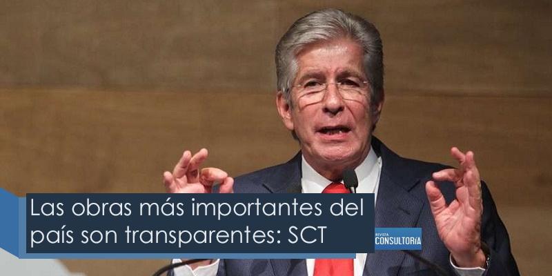 Las obras mas importantes son transparentes - Las obras más importantes del país son transparentes: SCT