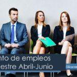 Incremento de empleos para trimestre abril-junio