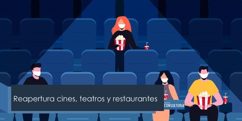 reapresta - Reapertura cines, teatros y restaurantes