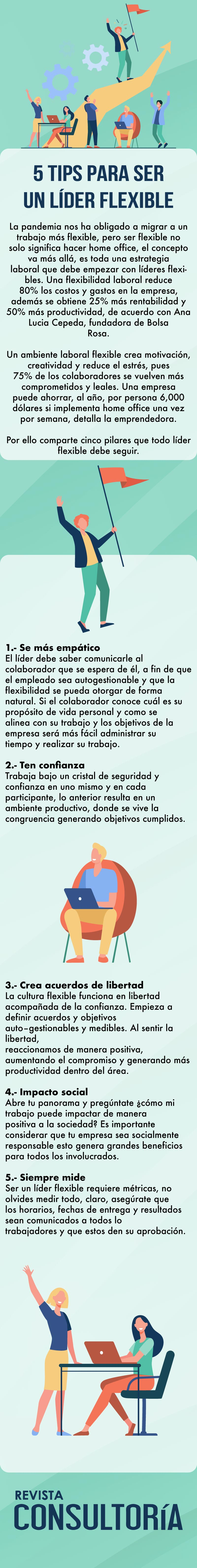 a 5 - 5 tips para ser un líder flexible
